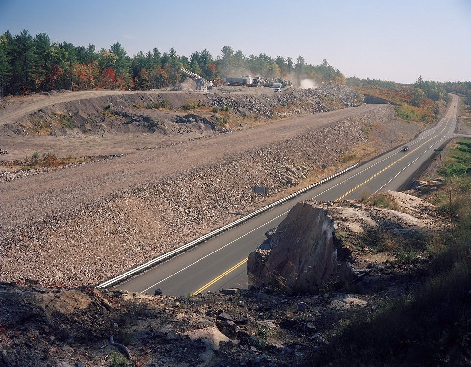 03 Rock crushing near Drummond River, Highway 69 750