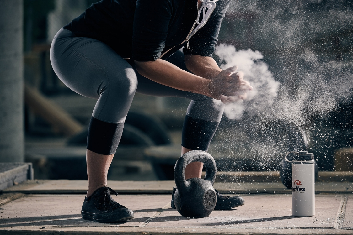 2017 - Vancouver - Sports and Fitness - Photographer - Erich Saide - Advertising - Reflex - Supplements - Kettlebell - Lifestyle